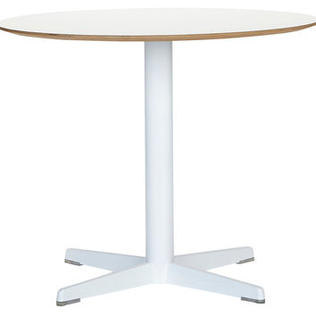 Janus Et Cie, Malibu Round Table, White, Outdoor Bistro Tables