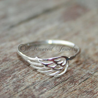Angel wing ring 1 - Sterling silver Angels