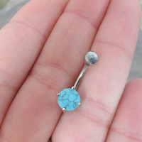 Turquoise Belly Button Ring Jewelry