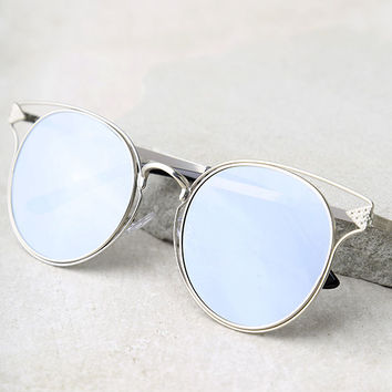 Good Golly Silver Mirrored Sunglasses