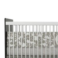 Oilo Modern Berries Standard Crib Set, Taupe