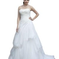 Simple Plus-Size Wedding Dresses Bride Gowns Ball Formal Dress with Court Train