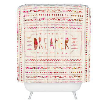 Bianca Green Dreamer Pink Shower Curtain
