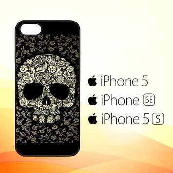 Dead sugar skull flower pattern V0395  iPhone 5|5S|SE Case