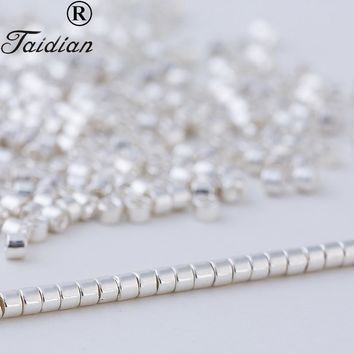 Bead work Loose premium Silver Glass Delica Seed Beads For Fashion Earring Jewelry Accessory Made In Japan 1.6mm 5g/bag