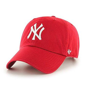 MLB womens Men's '47 Brand Clean Up Cap One-Size