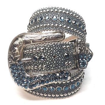 B.B. Simon Ocean Stingray Swarovski Crystal Belt