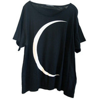 Wildfox Crescent Moon Over-Sized Tee in Black