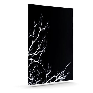 "Skye Zambrana ""Winter Black"" Outdoor Canvas Wall Art"