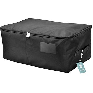 Seasonal Garment Storage Bag with Zipper, Black