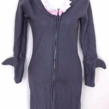 Leg Avenue Womans Shark S Sexy Halloween Costume Cosplay Fleece Dress Hoodie
