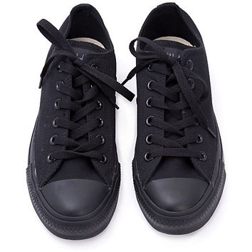 Converse All Star Black Monochromatic Low Top Sneakers