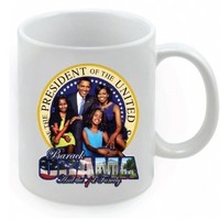 Inauguration Special! Barack Obama Family Picture 11 oz. Ceramic Commemorative Collector Mug Michelle Obama Kids - 1st family Mug