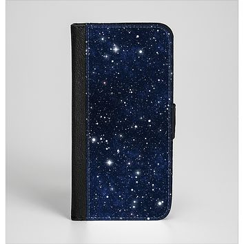 The Bright Starry Sky Ink-Fuzed Leather Folding Wallet Case for the iPhone 6/6s, 6/6s Plus, 5/5s and 5c