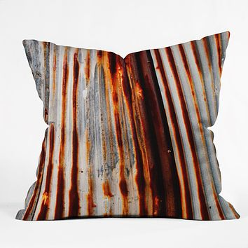 Caleb Troy Rusted Lines Throw Pillow