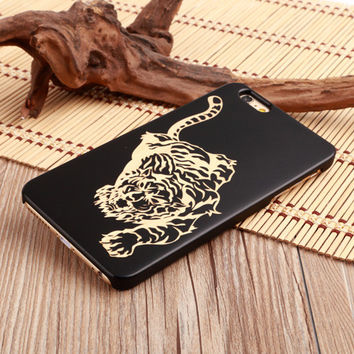 Tiger Ultra Thin 100% Natural Wood Phone Case For iPhone 7 7Plus 6 6s Plus 5 5s SE