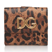 Leopard-Print Textured-Leather Wallet | Moda Operandi