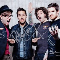 FALL OUT BOY Save Rock and Roll FULLY SIGNED Autographed PHOTO Print POSTER 010