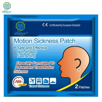 KONGDY Body Care 50Bags=100Pieces Motion Sickness Patch Behind Ear for Children/Adults Car Anti Patch for Travel Nausea Sickness
