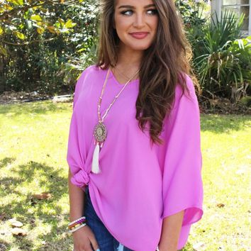 Summer Staple Top In Orchid