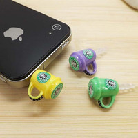 3 colors Cute Starbucks Coffee Mark Cup Dust Plug 3.5mm Phone Dust Stopper Earphone Cap Headphone Jack Charm for iPhone 4 4S 5 HTC Samsung