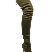 Olive You Knee High Boots
