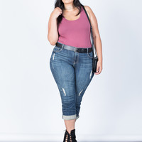 Plus Size Love Your Capri Jeans