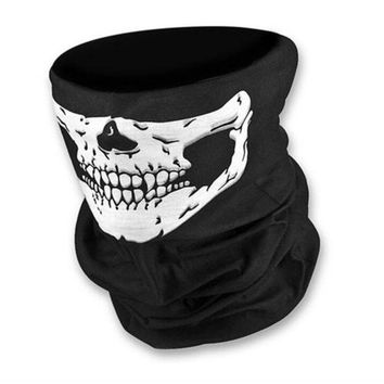 DCCKDZ2 Skull Multi Bandana Bike Motorcycle Scarf Face Mask CS Ski Headwear Neck Party Masks Halloween Mask Motorcycle Mask Skull