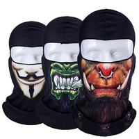 ONETOW New Jocker Orcs Clown Balaclava Snowboard Tactical Military Army Motorcycle Bicycle Winter Warmer Halloween Hats Full Face Mask