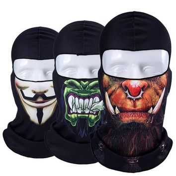 DCCKH6B New Jocker Orcs Clown Balaclava Snowboard Tactical Military Army Motorcycle Bicycle Winter Warmer Halloween Hats Full Face Mask