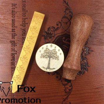 Hot Lord of the rings wax seal stamp wood handle with wax, ScrapbookingDIY Ancient Seal Retro Stamp, Vintage Gift high quality