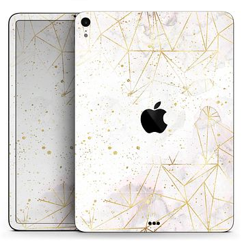 "Karamfila Watercolor & Gold V5 - Full Body Skin Decal for the Apple iPad Pro 12.9"", 11"", 10.5"", 9.7"", Air or Mini (All Models Available)"