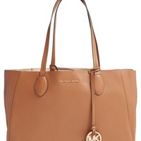 MICHAEL Michael Kors 'Large Mae' Reversible Leather Tote | Nordstrom