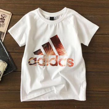 Adidas Girls Boys Children Baby Toddler Kids Child Fashion Casual Shirt Top Tee