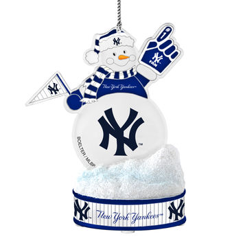 New York Yankees Ornament - LED Snowman