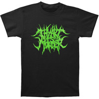 Thy Art Is Murder Men's  Grind Logo (Green Ink) T-shirt Black