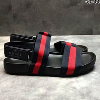 GUCCI Rome stripe man Sandal Slipper Shoes H-PSXY