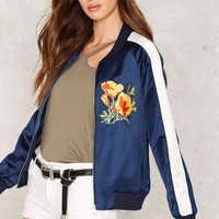 Poppy Writer Bomber Jacket