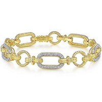 Gabriel Hampton Collection Yellow Gold Link Tennis Bracelet