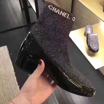 Chanel Women Low Heeled Shoes Boots