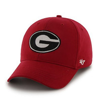 NCAA Georgia Bulldogs Basic Mvp Adjustable Hat, Toddler, Red