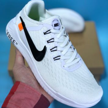 KUYOU N621 Off White Nike Free RN 2018 Fashion Sport Running Shoes White