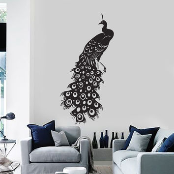 Vinyl Wall Decal Beautiful Peacock Bird Room Decor Mural Stickers (ig2815) Part 68