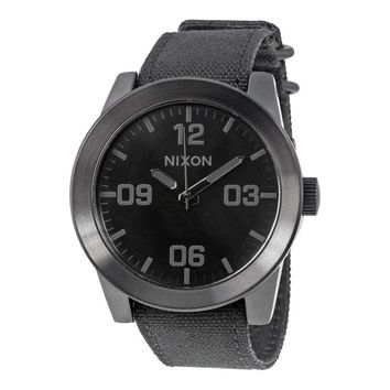 Nixon Corporal Black Ion-plated Stainless Steel Mens Watch A243001-00