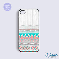 Iphone 5s Cases - Iphone 5c Cases - Iphone 5 Case - Aztec on White Wood Iphone 5 Cover
