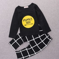 Baby boy Clothes Newborn Baby Rompers Long Sleeve T-shirt + Pants