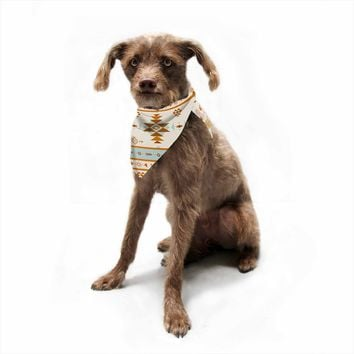 "afe images ""AFE Southwestern"" Multicolor Ethnic Tribal Digital Illustration Pet Bandana"