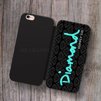 Wallet Leather Case for iPhone 4s 5s 5C SE 6S Plus Case, Samsung S3 S4 S5 S6 S7 Edge Note 3 4 5 Diamond Supply Co Cases