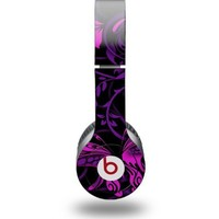 Twisted Garden Purple and Hot Pink Decal Style Skin - fits genuine Beats Solo HD Headphones (HEADPHONES NOT INCLUDED)