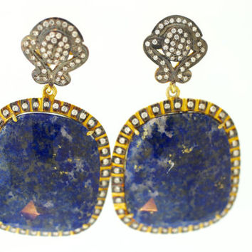 Lapis Lazuli Gemstone Earrings/ Drop Earrings